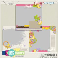JDoubleU 1 Templates (Commercial Use)
