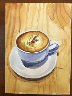 #咖啡#台南#水彩練習