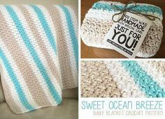 Calming Crochet Baby Blanket - Take a deep breath and calm down this this simple crochet pattern