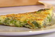 Broccoli and Cheddar Frittata Recipe : Ellie Krieger : Food Network - FoodNetwork.com
