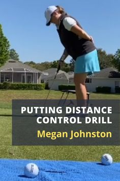If you struggle with distance control with longer putts, this practice drill from Megan Johnston is for you! #golf #golftip #golfswing #golflessons #womensgolf Senior Games, Golf Academy, Golf Instructors, Putting Tips, Florida Girl, In The Hole, Teaching Methods, Golf Lessons, Putt Putt