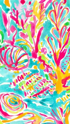 love the colors in this lilly print