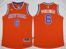 New York Knicks Kristaps Porzingis Orange Alternate Stitched NBA Jersey 6b7de4fe5