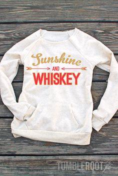 Sunshine and Whiskey | Ultra-Comfy Fleece Women's Sweatshirt