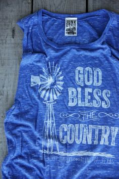 GOD BLESS COUNTRY MUSCLE TEE - Junk GYpSy co.