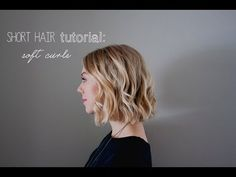 ▶ short hair tutorial: soft curls for summer / weddings/ prom - YouTube