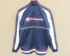 19c77052f441 Vintage 90s champion track jacket champion jumper champion big logo Trajeas  Para El Día A Día