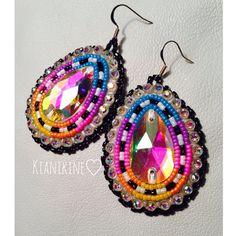Native American beaded Earrings: Rainbow Set on Etsy, $25.00