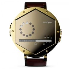 I like the design of it - not something you're likely to see two of around here.    Nooka Zex Watch.