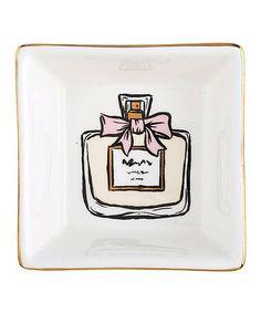 Magenta Ceramic Rectangle Trinket Plate Farm House Holdall Dish Hello Cream//Black