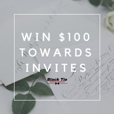 Want to win $100 towards your picture perfect #WeddingInvitations? Click to enter our giveaway. Good luck! blacktietuxes.com