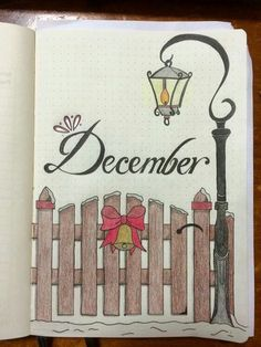 Bullet Journal Art - December #bulletjournal #bujo #plannerlove #plannercommunity #lbloggers