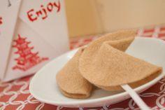 DIY felt fortune cookies