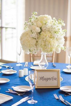 Names of your favorite flowers as table markers