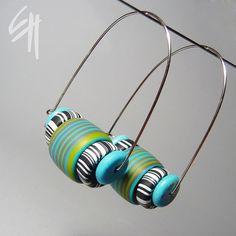 Beady Earrings by E.H.design, via Flickr