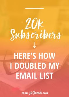 If you're building a blog or online business an email list is a MUST-HAVE. Over the past year I reached 20k subscribers. I tried all the usual stuff, an opt-in box in my site header, pop-up boxes, linking to my list on social media, but it hasn't been those things that helped to grow my list by 10k two years in a row. Click through to find out what gave my list the biggest gains.