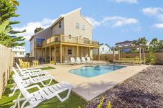 Search Rentals - First Choice VBR Saint Augustine Beach, Beach Place, Charming House, Red Cottage, House By The Sea, Beach Bungalows, Beautiful Ocean, Decks And Porches, Beach Condo