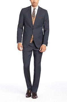 'The James/Sharp' | Regular Fit, Super 100 Italian Virgin Wool Suit , Blue