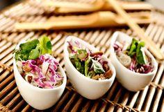 Salada Lótus C/ macarrão de arroz