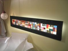 How to Make a Decoupaged Matchbook Collage...awesome idea would work with anything you want to use for the media...old cards, ticket stubs, etc. Another great idea from HGTV.