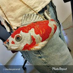 Judith Leiber goldfish bag