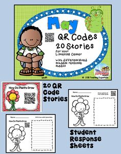 May Themed QR Codes for your Listening Station. This set contain popular May themed stories, Mothers,planting flowers/seeds,and more. This is a perfect set for the Tech Savvy Classroom! Students love Technology and these QR Codes are easy and fun for students to use.