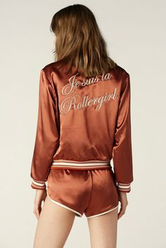 La Roller Girl Jacket Rust – Stoned Immaculate Clothing