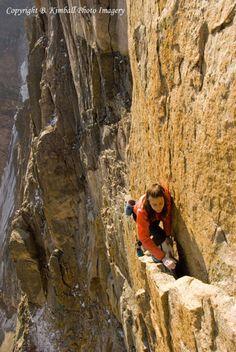 Pervertical Sancutary on the diamond on Longs Peak. Free Solo. Steph Davis