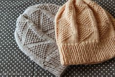 Dreiecke Hat PDF Knitting Pattern - Fun beanie with repeating triangle pattern.