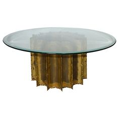 Tom Greene Brutalist Round Coffee Table $979.00