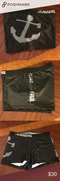 Flag Nor Fail workout shorts Flag Nor Fail black with grey logo workout shorts. Worn once. In great condition. Flag Nor Fail Shorts