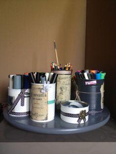 Les Diy de Suzan: Plateau à crayons façon vintage