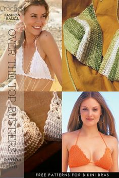 Crochet - Inspiration and free patterns for tops, bras and bustiers - new ideas from DiaryofaCreativeFanatic