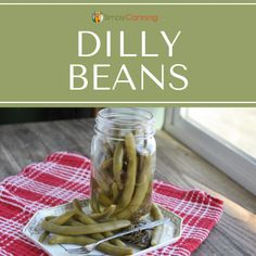 Jar of pickled green beans (AKA dilly beans). Sweet Relish Recipe, Relish Recipes, Bean Recipes, Pickled Green Beans, Pickled Carrots, Pickled Beets, Easy Recipe For Pickled Eggs, Dilly Beans Canning Recipe, Preserving Green Beans