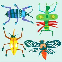 bugs first or second grade construction paper bug design