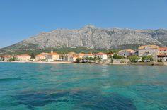 Orebic, kitschig kroatisch, azurblaues Meer.