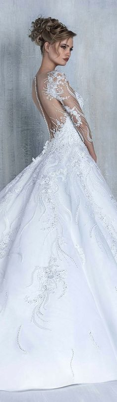 Most elegant wedding dresses and bridal gowns available at Beirut (Lebanon). Classic and trendy bridal dresses and wedding gowns at an affordable prices. Gorgeous Wedding Dress, Dream Wedding Dresses, Beautiful Bride, Elegant Wedding, Bridal Dresses, Wedding Gowns, Bridesmaid Dresses, Wedding Attire, Bridal Collection