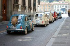 ✕ Fiat 500 convoy—darling! / #car #vintage