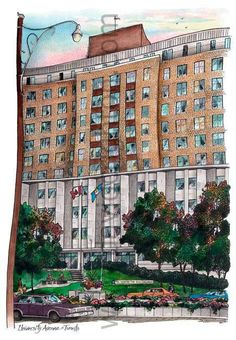 Sick Children's Hospital #2, Toronto, Canada by Artist Illustrator Dav – David Crighton Art