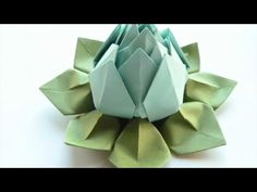 Lotus Flower Origami - Modular origami - Very easy - Valentine's Day gift - YouTube