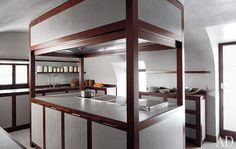 "Inside Giorgio Armani's Mahogany-Filled ""Polar Bear House"" - The Printed Page - Curbed National"
