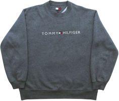Image of Vintage Tommy Hilfiger Grey Sweatshirt Size Large