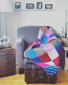 c2c crochet patch blanket C2c Crochet, Patches, Throw Pillows, Blanket, Instagram Posts, Toss Pillows, Cushions, Decorative Pillows, Blankets