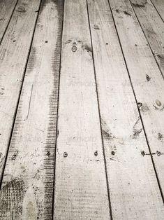 Unieke witte, houten vloer