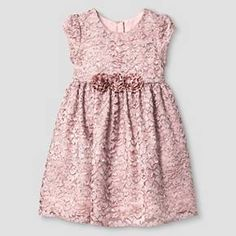 Toddler Girls' Lace Dress Glitter Dot - Mia and Mimi : Target