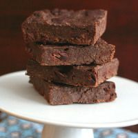 Mocha Chocolate Chunk Chia Seed Brownies - Low Carb and Gluten-Free