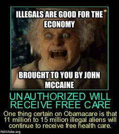 ??Illegals get free healthcare??? what part of ILLEGAL=CRIMINAL doesn't the gov't understand (chooses to ignore the crime).