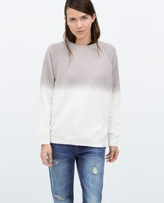 Image 2 of TIE-DYE SWEATSHIRT from Zara