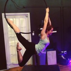 Don't know what this one's called, but it's pretty. #lyra #aerialhoop #aerialist #bodyandpole #circuseverydamnday