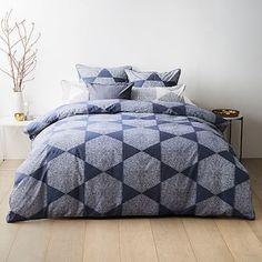 Coastal Hexagon Quilt Cover Set